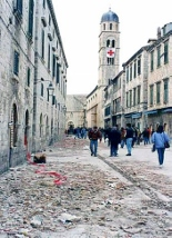 Stradun nakon napada Foto: HTV