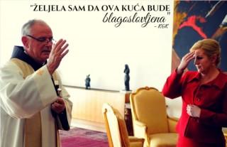 Blagoslov Ureda Predsjednice Foto: Facebook stranica Kolinde Grabar-Kitarović