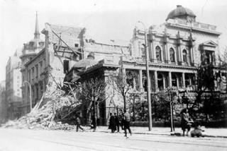 Beograd nakon bombardiranja, 1941.