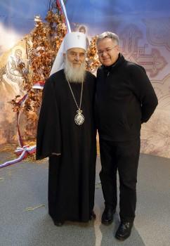 Patrijarh Irinej i Drago Pilsel Foto: Pedja Milosavljević