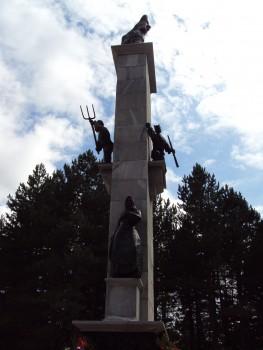 Spomenik usatanku naroda Hrvatska u Srbu Foto: Wikipedija