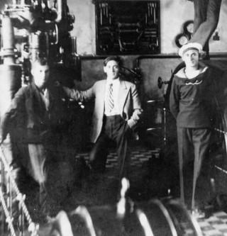 Ante Šešerin u elektročnoj centrali 1934