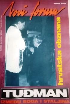 Franjo Tuđman u Mariji Bistrici, 1990.