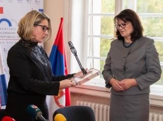 Jasna Vojnić i Katica Naglić (foto Hrvatsko nacionalno vijeće)