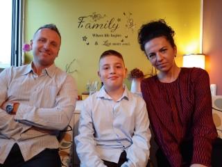 David s mamom Sandrom i tatom Romanom