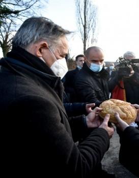 Milorad Pupovac, Boris Milošević i episkop Gerasim Foto: Davorin Višnjić/PIXSELL)